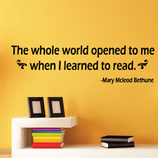 THE WHOLE WORLD OPENED TO ME quote wall decal decroom vinyl stickers