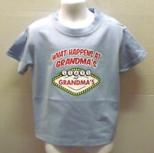 WHAT HAPPENS AT GRANDMA'S STAYS AT GRANDMA'S Las Vegas Kids T-Shirt 2-4 To 14-16