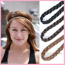 Braid around forehead Elastic Fake Hair Plait Hairband Tribal Belly Dance AA26