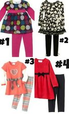 * NWT NEW GIRLS 2PC RARE TOO BONNIE JEAN HEARTS DOTS WINTER OUTFIT SET 4 5 6 6x