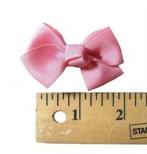 Solid Tiny Tot Infant Hair Bows (29 Colors Available)