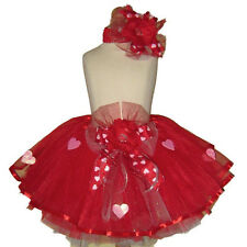 QUEEN of HEARTS . VALENTINE GLITTER HEARTS TUTU SET 3M-UP . FREE SHIPPING