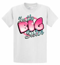 I'M The Big Sister Youth Kids Tee Shirt With Pink 2-4=XS THRU 14-16= LG The Best