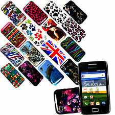 NEW HOT PRINTED DESIGN HARD BACK CASE COVER FOR SAMSUNG GALAXY ACE S5830i S5839i