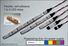 9v 12v DC LED LIGHTING STRIP SMD SUPAFLEX  MODEL RAILWAY LIGHTING OO HO GAUGE