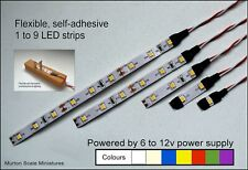 QUALITY 9v 12v DC 3528 LED SUPAFLEX LIGHTING STRIP MODEL RAILWAY N OO HO O GAUGE