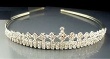 WOW RHINESTONE DIAMANTE PEARL ALICE HAIRBAND TIARA UK