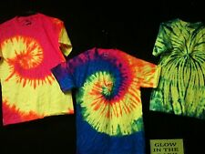 TIE DYE T-SHIRTS~ S M L XL 2X 3X 4X 5X GLOW IN THE DARK