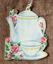Hang Tags  RETRO TEAPOT COFFEE POT CUP ROSE TAGS #169  Gift Tags