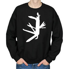 SWISS ARMY KNIFE SURVIVAL WEAPON TOOL SCOUTS ADVENTURE MENS CREW NECK SWEATSHIRT