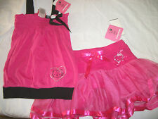 * NWT NEW GIRLS 2PC HELLO SUMMER SKORT SKIRT & SHIRT OUTFIT SET 2T 4 5 6