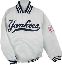 New York Yankees MLB Licensed Majestic Athletic White Satin Jacket Big Sizes