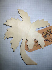 Wooden Shape  Palm Tree Pack of 3, 6, or 9 Wood Embellishment blank plaques