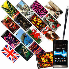 FOR SONY XPERIA MIRO ST23i NEW STYLISH PRINTED HARD SHELL CASE COVER+FREE STYLUS