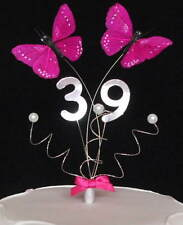 Butterfly Birthday Anniversary Cake Topper - Decoration