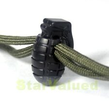 LOT 25 PCS Hand Grenade Buckle Stopper Rope Clamp Black Cord Lock For Paracord