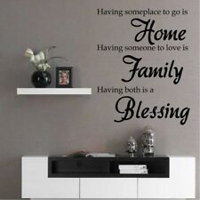 HOME FAMILY BLESSING Wall Sticker quote vinyl decal large transfer graphic mural