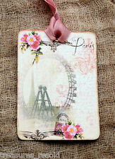 Hang Tags  FRENCH ROSE FERRIS WHEEL POSTCARD TAGS  or MAGNET #420  Gift Tags