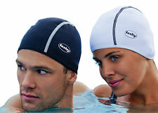 Mens Ladies Adults Black White Thermal Swim Hat Fashy Warm Outdoor Swimming 3258