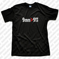 9mm 911 T-Shirt Pro Gun Rights 2nd Amendment NRA Pistol Handgun Molon Labe