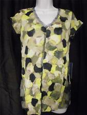 Simply Vera Wang Top Green Black Tan Yellow Sizes XS-Medium-Large-XLarge NWT