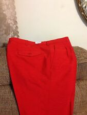 Mens Red Raw Silk Pants 100% silk sz 44