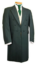 MENS MANS FROCK COAT GREEN WEDDING FANCY DRESS PROM STUNNING QUALITY EDWARDIAN