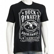 DUCK DYNASTY Duckaholic MENS SHIRT - COMMANDER Black Tee JASE Willie SI Phil