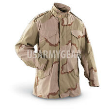 Made in USA MILITARY FIELD JACKET Desert Fatigues ARMY COAT M65 NEW Liner.Hood