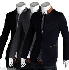 Promotions! New Korean Men's Stand Collar Slim Fit Suit Jacket Coat Blazers