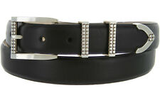 "Francouer - Italian Calfskin Genuine Leather Designer Dress Belts, 1-1/8"" Wide"