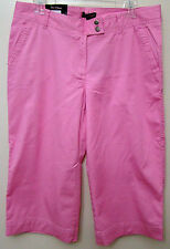 Steve & Barrys - Pink Wide Leg Tab Front Stretch Capri Pants - Size 12 - NWT
