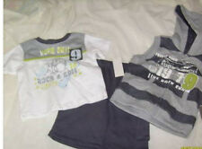 * NEW BOYS 3PC BABY HEADQUARTERS SUMMER OUTFIT SET SZ 3/6M 6/9M 12M 18M 24M