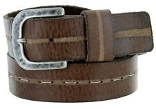 Men's Italian Genuine Full Leather Dress Casual Golf Made in Italy Brown Belt