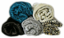 LUXURY MINK THROW BLANKET FLEECE FOR SOFA SETTE BED CHAIR ALL SIZES & COLOURS