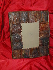 Rustic Bark Photo Frame or Mirror- Hardwood. Home Accents, Accesories, Cabin