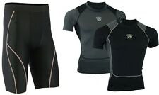 MS Mens Compression Shorts Base layer Under Armour tight pants Shirt Top Long