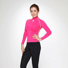 Mowave woman under layer rash guard surfing shirts swim athletic wear SPF50+ top