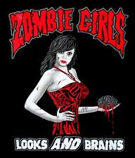 ZOMBIE GIRLS - LOOKS AND BRAINS WALKING DEAD JED T-SHIRT  ZB5