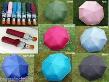"Mens Womens Lrg38""Windproof Auto Automatic Open/Close Rain/Sun 3Fold UV Umbrella"