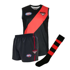 Official AFL Footy Essendon Bombers Kids Youth Auskick Jumper Guernsey Shorts So