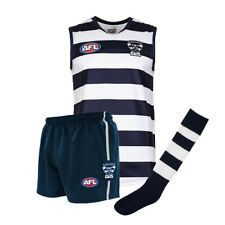 Official AFL Footy Geelong Cats Kids Youth Auskick Jumper Guernsey Shorts Socks