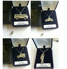 CLASSIC CAR PENDENT ON Silver Platinum Plated Necklace Handmade 18 INCH