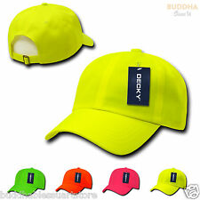 1 DOZEN DECKY Neon Pre Curved Bill 6 Panel Low Crown Hat Hats Cap Caps WHOLESALE