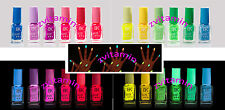 Multi 19 colors Fluorescent Neon Nail Art Polish Glow In Dark Nail Varnish 7ml