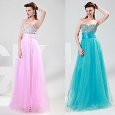Sleeveless Sweetheart Prom Party Bridesmaid Evening Dress Long Wedding Maxi Gown