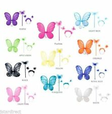 """3pc set 14""""X15"""" Fairy Wings Butterfly Angel Infant Toddler Halloween Costume set"""