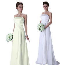 Elegant New white/ivory Chiffon Wedding dress Bridal ALL Sz 2-4-6-8-10-12-14-16