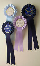 ONE CHOOSE YOUR OWN COLOUR ROSETTE ONE TIER BOX PLEAT RIBBON HORSES, CATS, DOGS