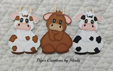 Tiny Treasures Farm Cow Premade paper piecing for scrapbooking page album border